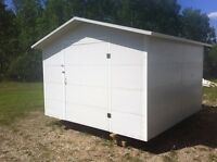 New 10'x10' metal insulated shed