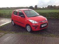 2010 Hyundai i10 Classic red 5 door motd January 17