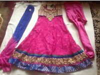 Brand new indian suit 3 pieces size 36 pink new £10