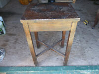 Rustic look solid wood table