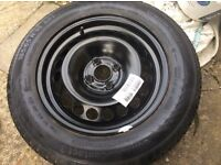 Tyre steel wheel and tyre as new