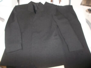 Boys black suit- suit jacket and pants- worn twice