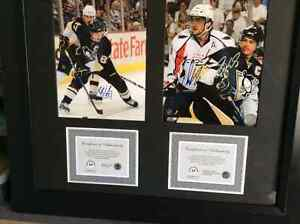 Sidney Crosby and Alexander Ovechkin Signed with coa