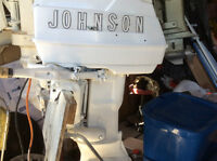 1962  25 HP Johnson Gale Outboard motor.