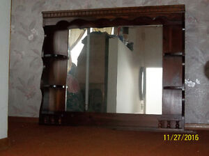Mirror Solid Wood Frame With Shelves Kawartha Lakes Peterborough Area image 1
