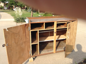 Portable Wood Tool Cabinet-FREE