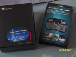 Two brand new Kracken Android boxes with Two Key board remotes