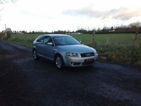 24/7 Trade sales NI Trade prices for the public 2004 Audi A3 2.0 FSI SE Full mot low miles 68.000