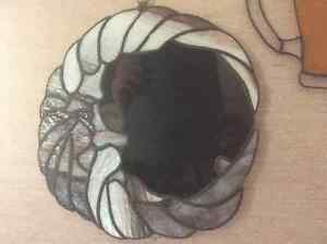 Hand made round stained glass panel