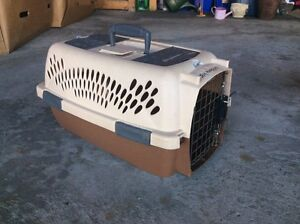 Brown small animal carrier, some rust on gate  Kitchener / Waterloo Kitchener Area image 1