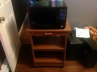 Microwave and stand can be sold separately