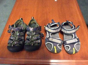 Toddler size 13 Keens and Teva Sandals