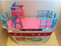 Used Barbie Sisters: Cruise Ship with slides, dolls and accessories
