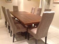 "Dining table and 8 chair 44"" X 96"""