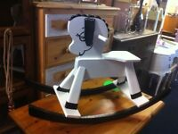 LOVELY UP-CYCLED 1960s VINTAGE ROCKING SHEEP