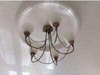 Ceiling light - antique brass effect