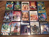 15 Mixed kids DVDS