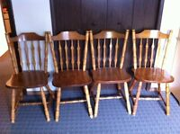 Solid oak dining chairs- set of 4