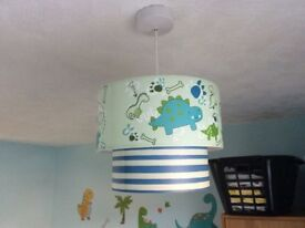 Dinosaurs Lampshade and blackout curtains