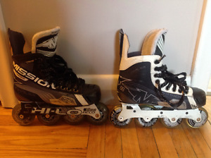 Mission In-Line Junior Hockey Roller Blades Size 3E