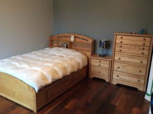Mobilier chambre à coucher double - avec commode 5 tirroirs