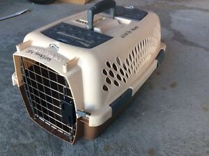 Brown small animal carrier, some rust on gate  Kitchener / Waterloo Kitchener Area image 2