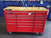 """53"""" Snap on toolbox - wood top - great condition - Garage equipment/Blue-point/Mac tools"""