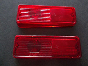 1967 to 1972 Chevrolet and GMC Suburban tail lamp lenses