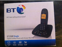 BT 1500 Single Cordless Telephone and Answering Machine