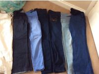 Maternity jeans / linen trouser bundle