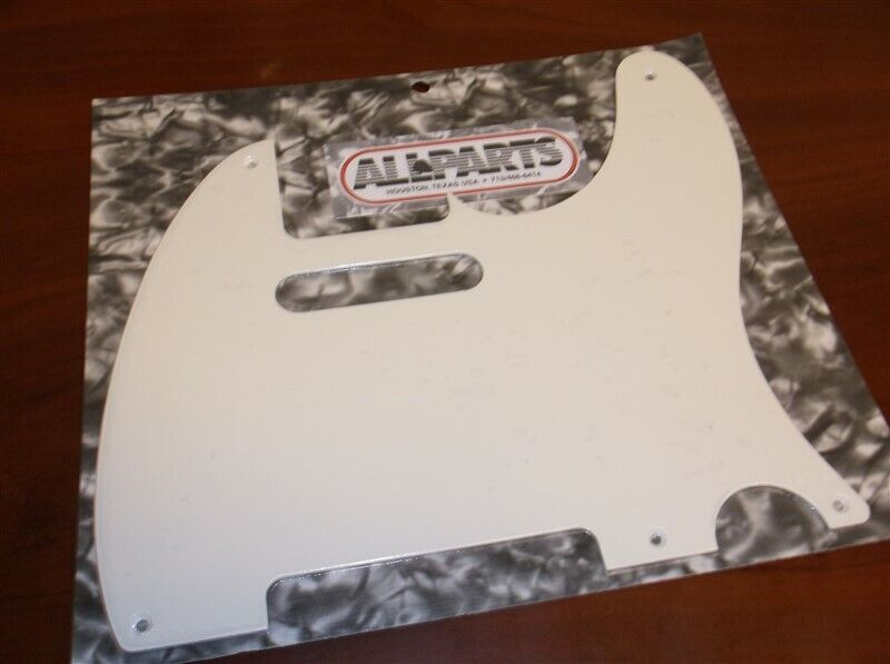 NEW - Pickguard For Fender Tele, 5 Mounting Holes, 1-Ply - PARCHMENT
