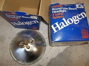2 - NEW #H5006 ROUND HALOGEN LIGHTS (4000 REPLACEMENT )