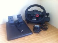 Logitech Driving Force Feedback GT Racing Steering Wheel & Pedals - Ideal for F1 PS3 and PC - LUTON