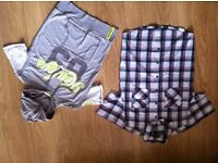 Mens sleeveless hoodie and shirt. - size small - only used a few times.