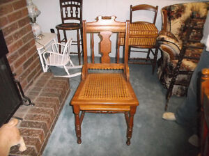LOT OF ANTIQUE CHAIRS.... MOVING......