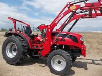 LIKE BRAND NEW FOTON 254 4X4 DIESEL TRACTOR WITH LOADER 38 HRS