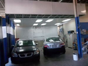 AUTO BODY SHOP WITH PAINT BOOTH FOR RENT ....
