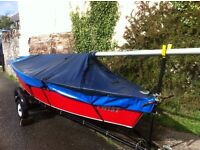 Beautiful cygnet sailing dinghy with excellent 4hp outboard