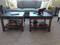 Custom coffee tables, entry tables, sofa and occasional tables