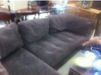 Genuine Suede Corner Sofa