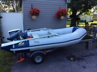 10 ft Zodiac 15 hp Evinrude and trailer or separate  Best Offer