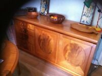 Vintage nathan sideboard, table and chairs