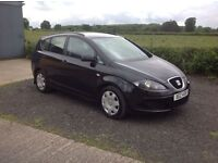 2008 Seat Alta 1.6 Reference XL black motd March 17 good condition inside and out service history