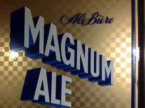 One rare Magnum Ale on Draft beer sign - price lowered Cambridge Kitchener Area image 3
