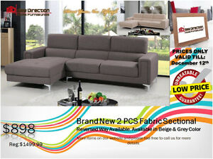◆Brand New 2PCS Fabric Sectional@New Direction Home Furnishings