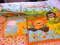Crib bumper and blankets