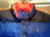 Ralph Lauren xxl feather down gilet body warmer