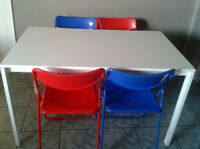 IKEA Dining Table with 4 Chairs - can be sold separately
