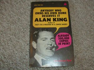 Vintage Anybody Who Owns His Own Home Deserves It-Alan King-1966 London Ontario image 1