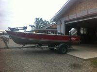 16 ft. aluminum Lund boat and motor